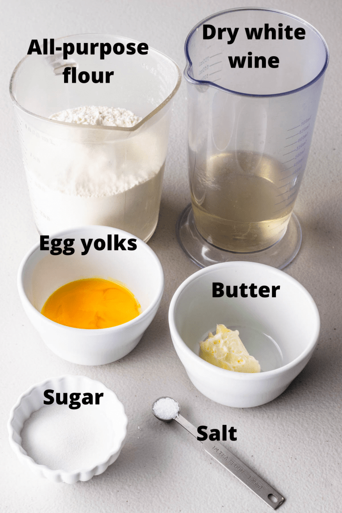ingredients to make cannoli shells from scratch