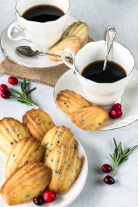 Orange and Cranberry Madeleines