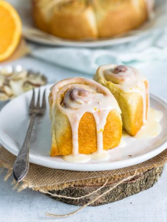 orange almond sweet rolls