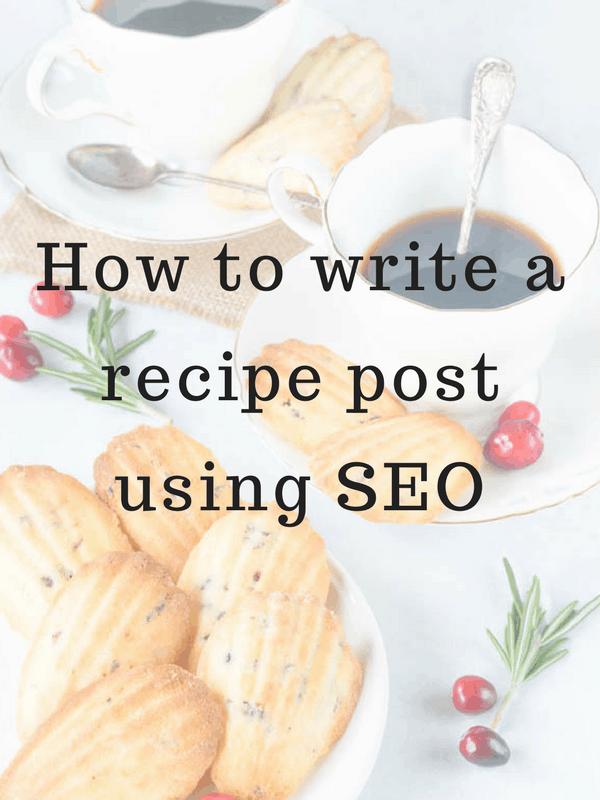 how to write recipe post