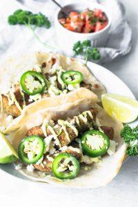 Avocado Tacos with Jalapeño Mayo Sauce