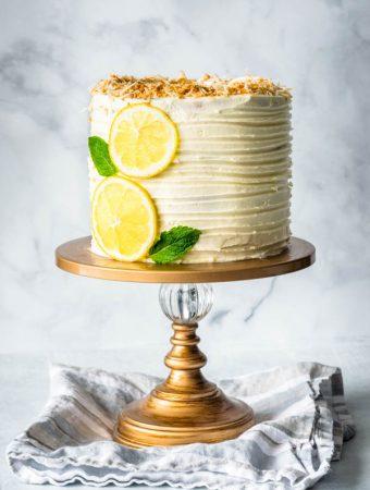 lemon coconut layer cake