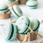 Robin's Eggs Macarons with Chocolate Ganache