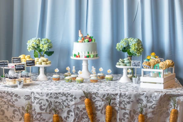 Peter rabbit cake table