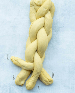 challah bread braiding