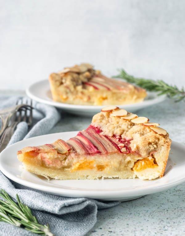 Apricot Rhubarb Almond Tart