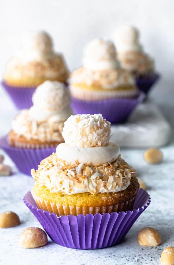 coconut macadamia cupcakes