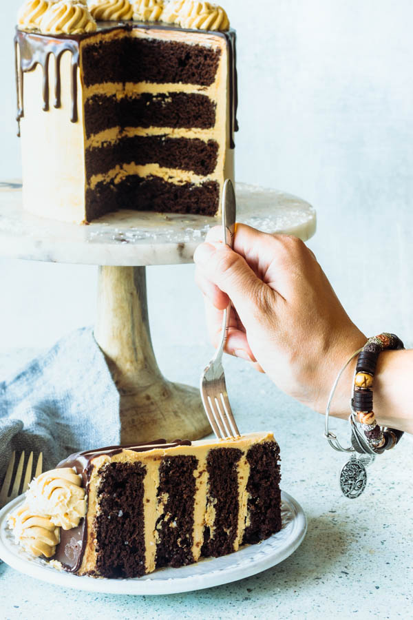 Salted Caramel Stout Cake