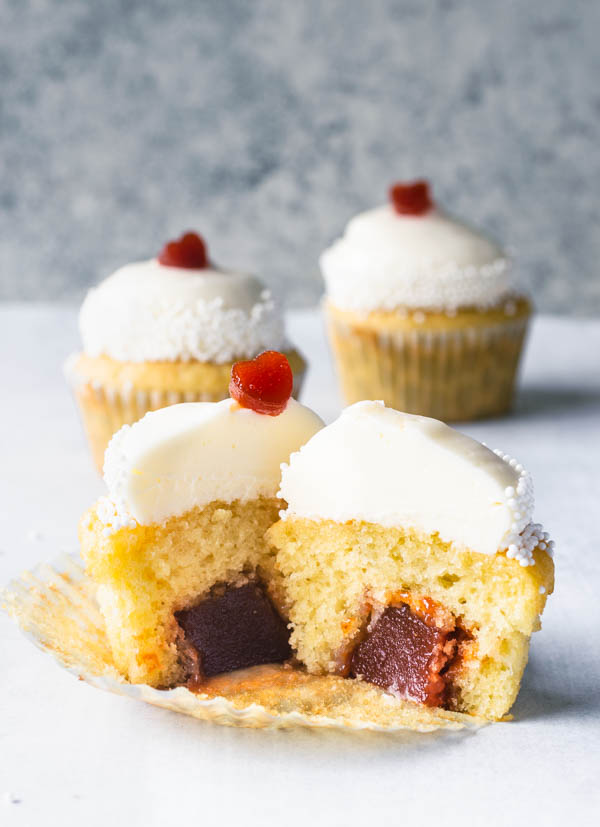 romeo and juliet guava cupcakes