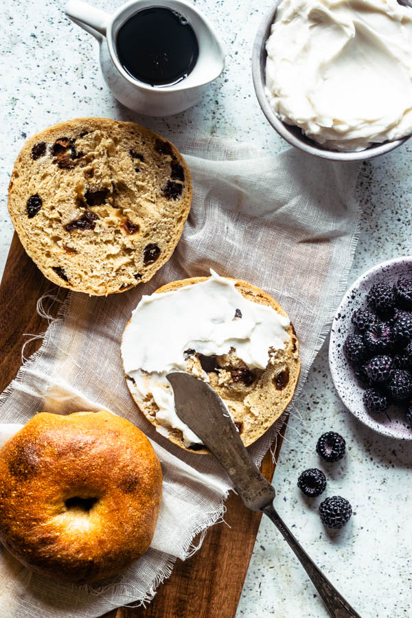 Sourdough Cinnamon Raisin Bagels