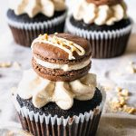Espresso Chocolate and Peanut Butter Cupcakes