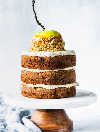 Cashew Caramel Apple Cake