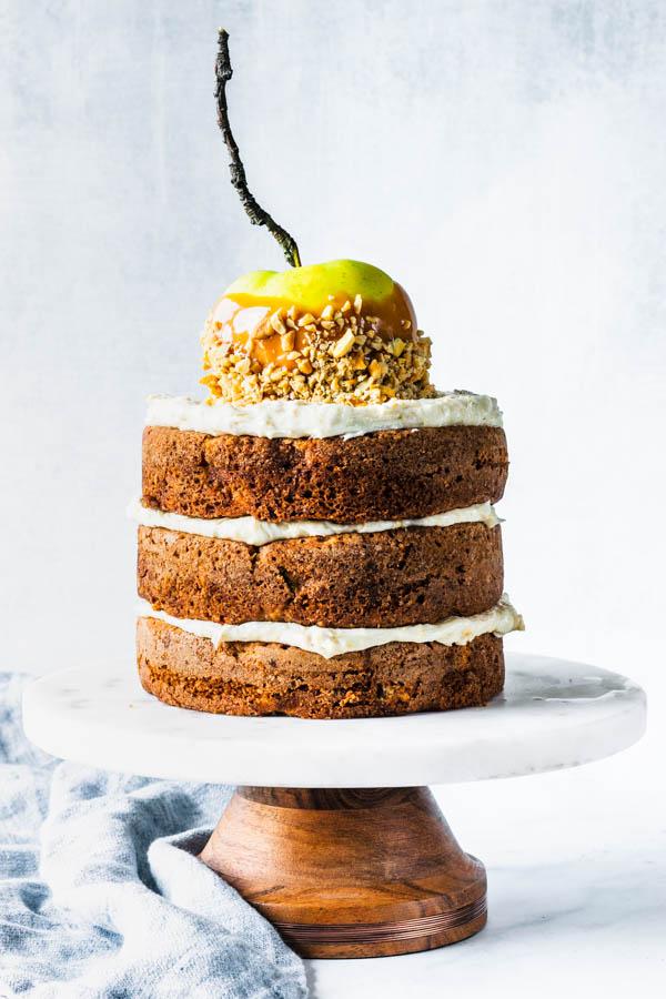 Cashew Caramel Apple Cake