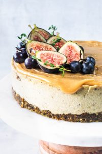 Fig and Pistachio Vegan Cheesecake