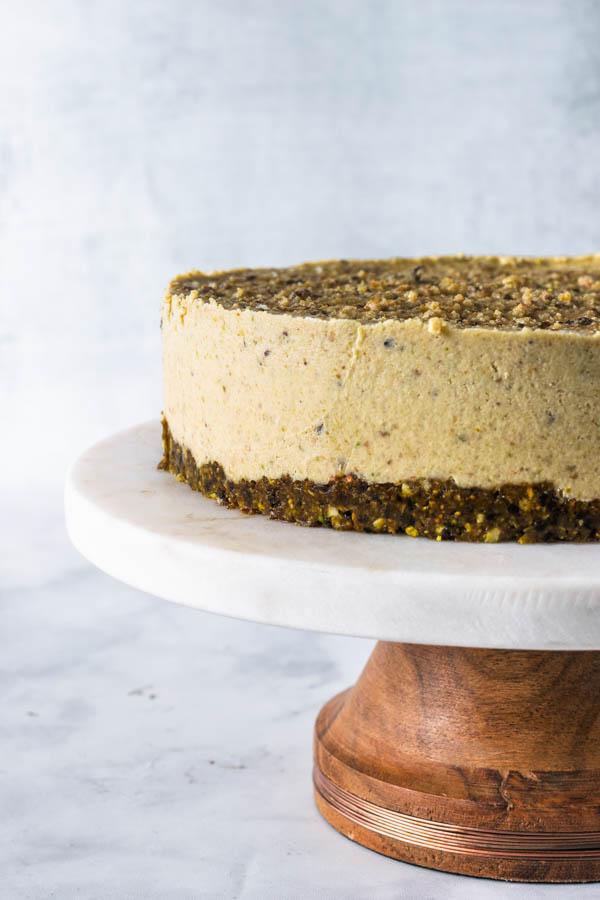 Fig and Pistachio Vegan Cheesecake
