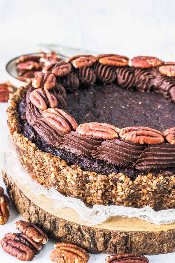 Brownie Pecan Vegan Pie