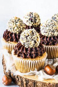 Hazelnut Paleo Vegan Cupcakes
