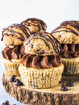 Chocolate Chip Cookie Vegan Cupcakes