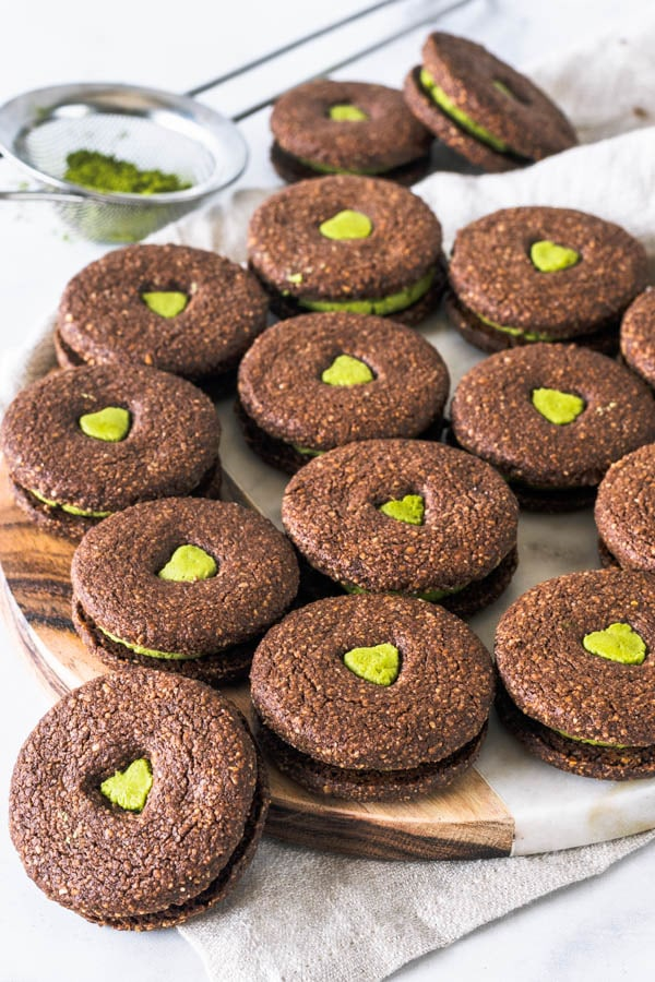 Matcha Vegan Oreos