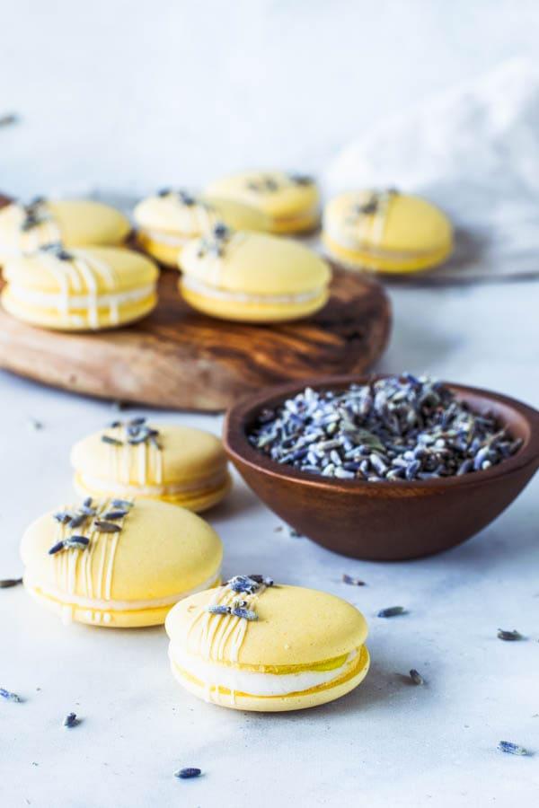 Lavender Lemon Vegan Macarons
