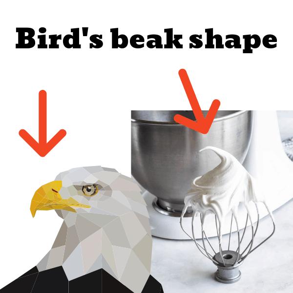 bird's beak shape eagle picture meringue stiff peak when making macarons