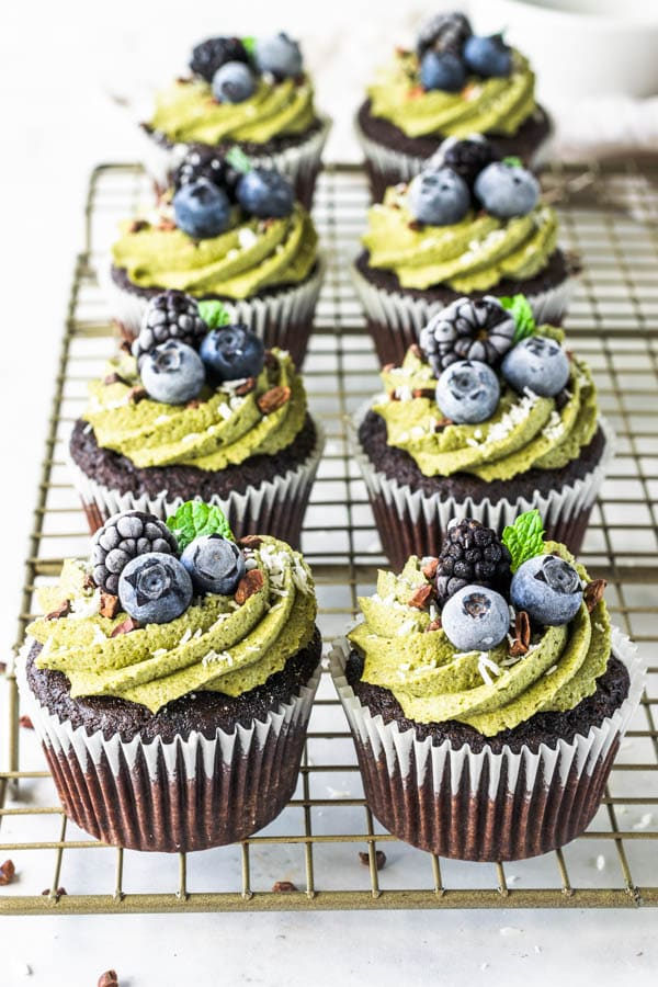 Green Smoothie Cupcakes