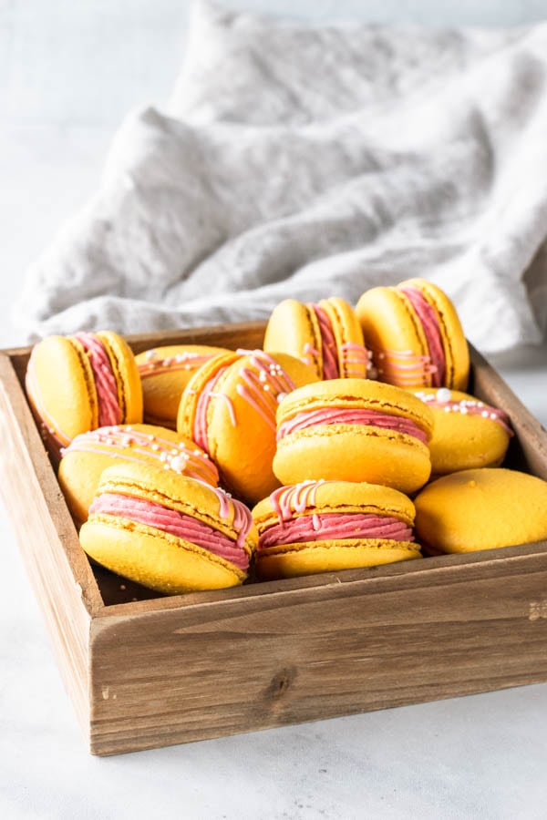 Strawberry Lemonade Macarons