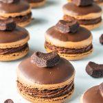 brownie macarons