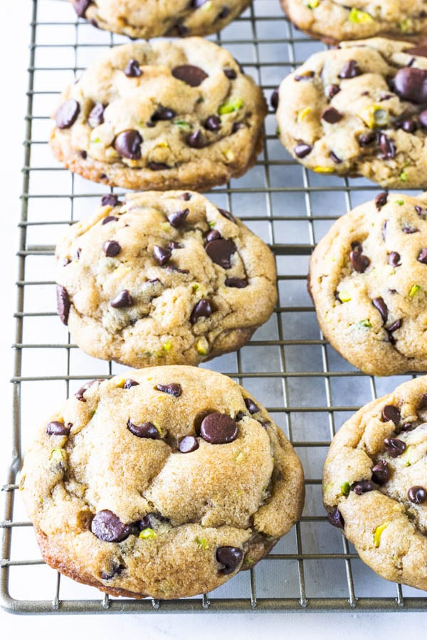 Vegan Chocolate Chip Cookies with Pistachios