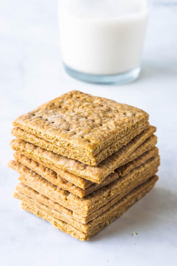 stack of vegan graham crackers