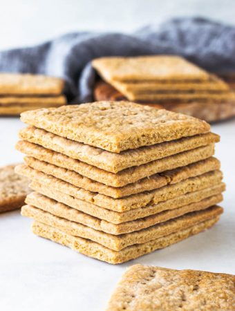 Vegan Graham Crackers stack