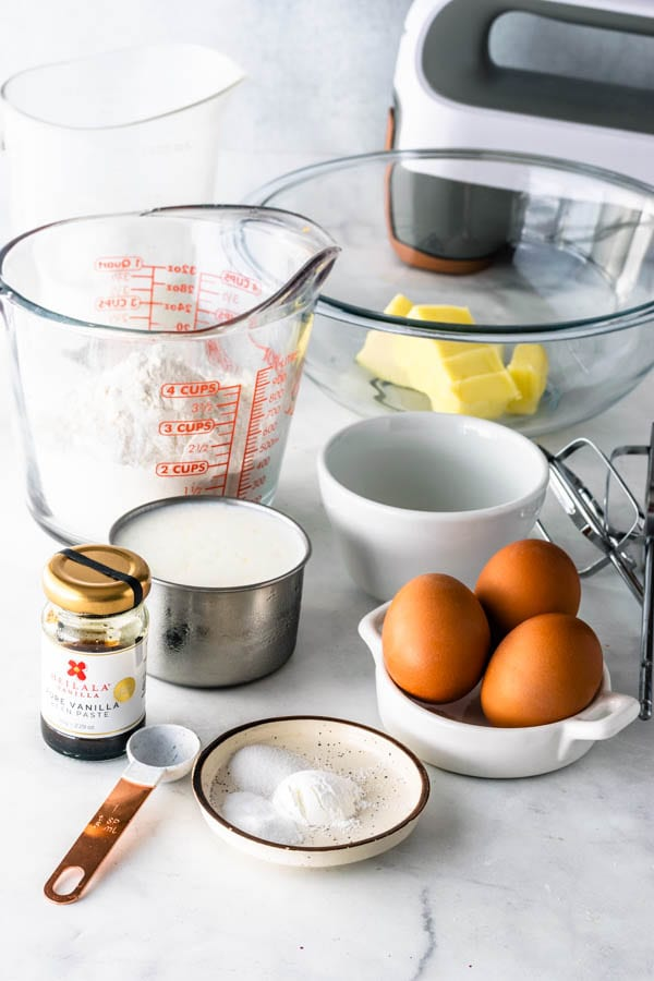 ingredients to make moist vanilla cake