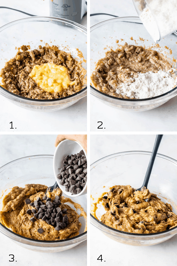steps on how to make vegan banana cookies