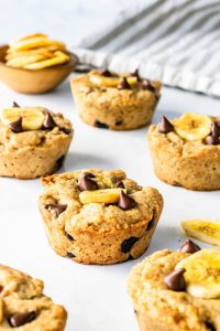 Vegan banana Cookies with chocolate chips