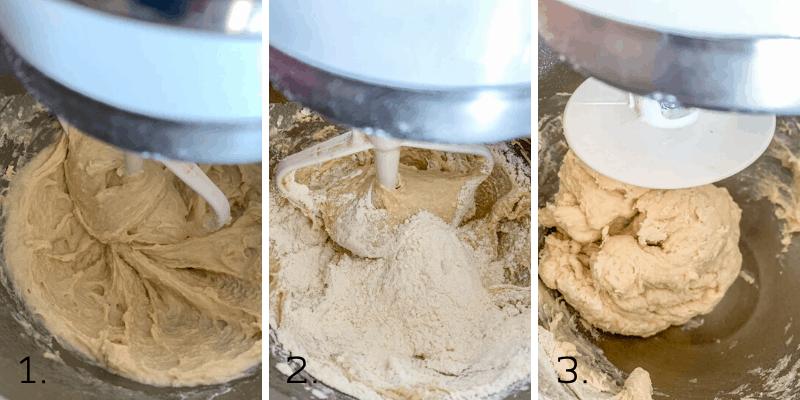making sweet rolls dough