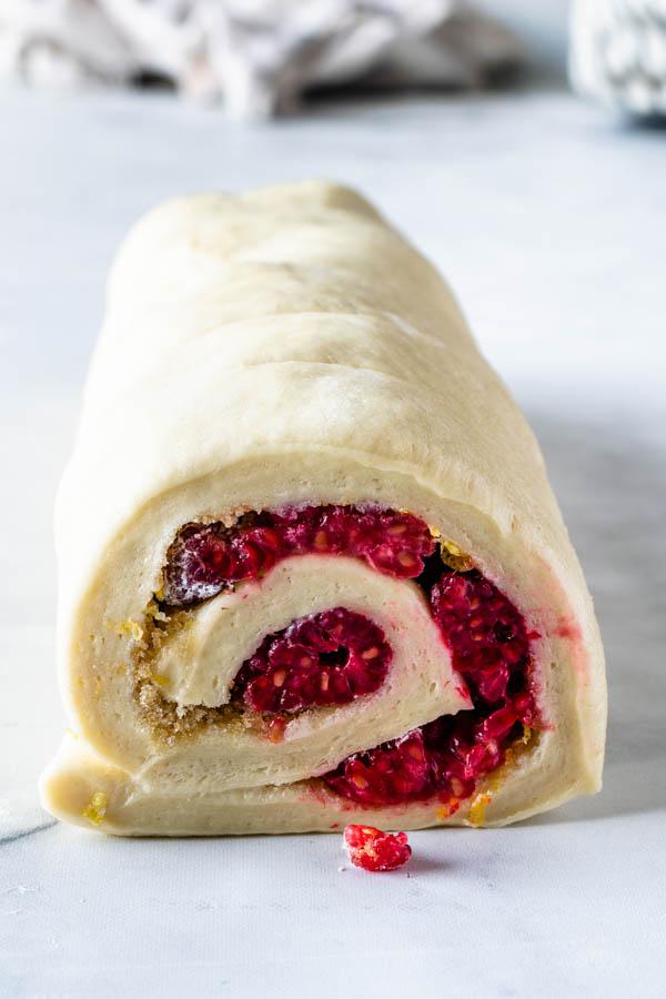 rolling sweet rolls dough