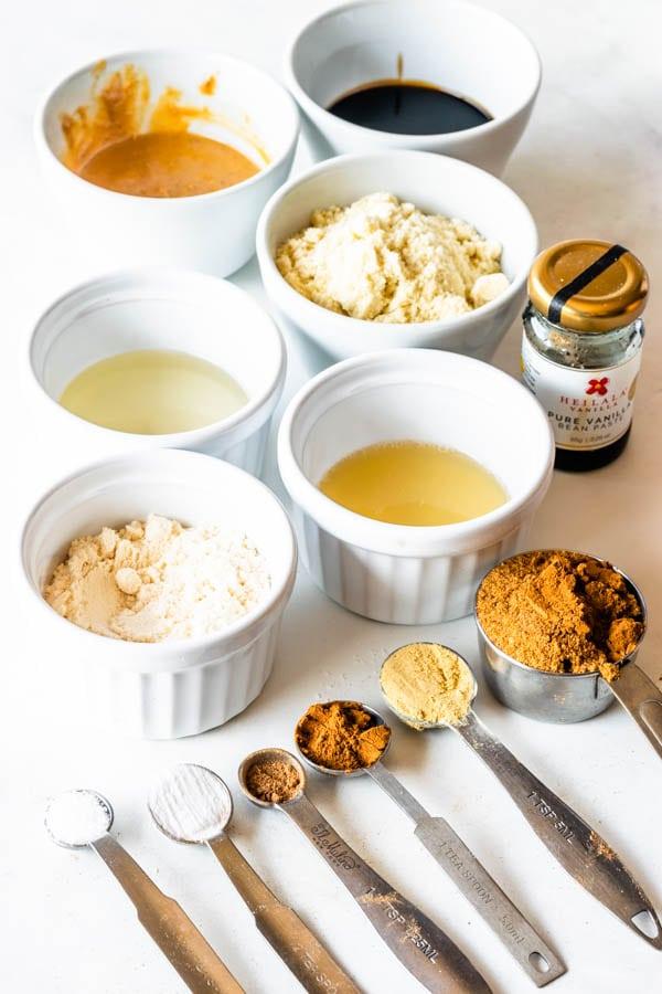 ingredients needed to make vegan molasses cookies