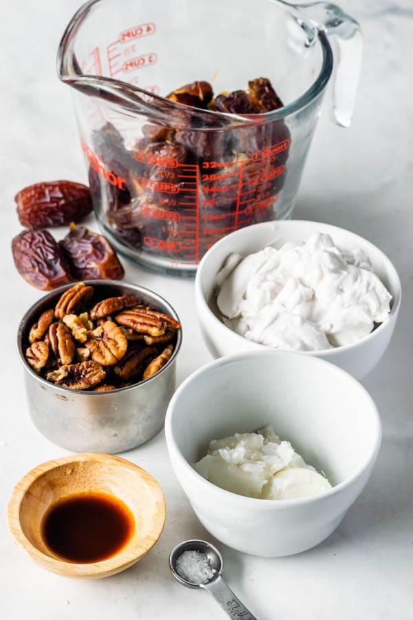 ingredients to make vegan pecan pie
