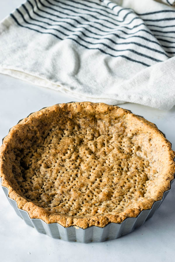 vegan pie crust baked