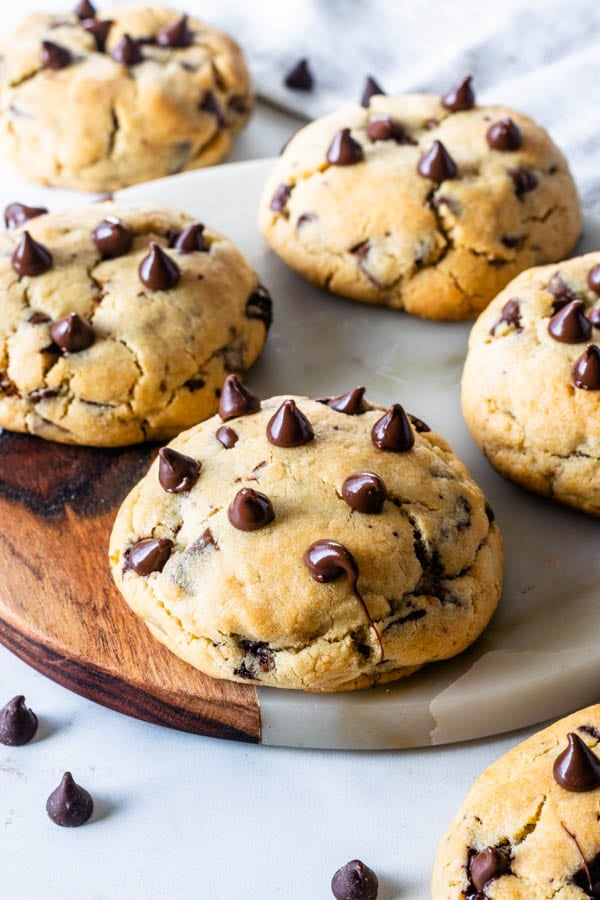 Jumbo Thick Chocolate Chip Cookies