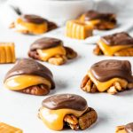 Pecan Clusters with caramel and chocolate