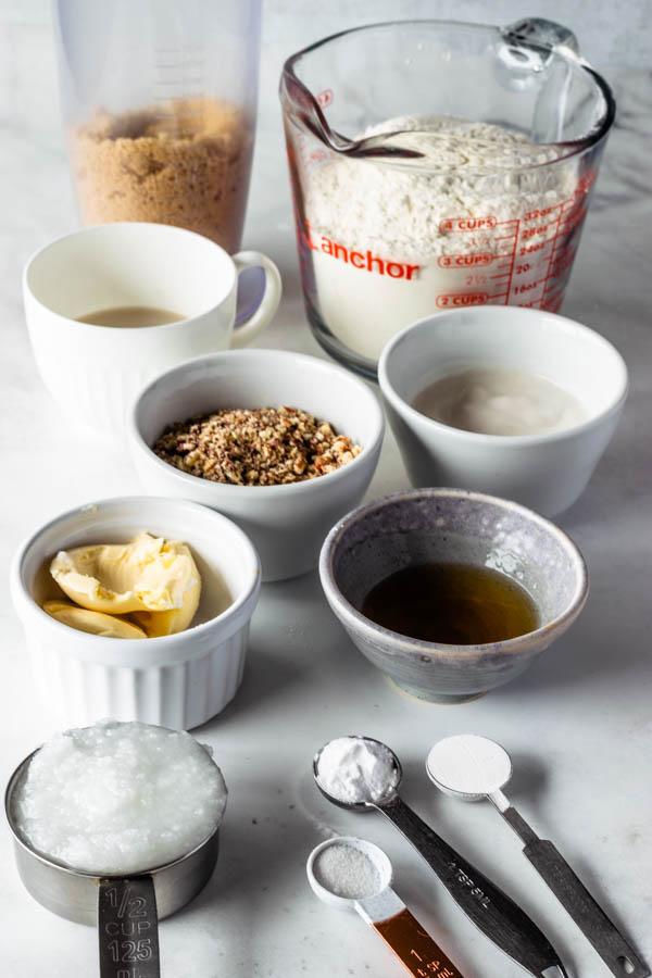 ingredients to make vegan pecan cookies