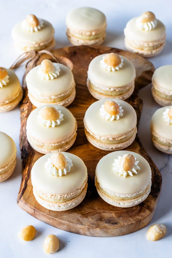 White Chocolate Macadamia Macarons