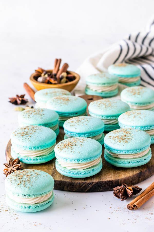 Chai Macarons