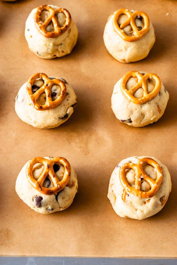 Pretzel Chocolate Chip Cookie dough