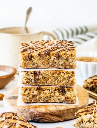 Vegan Almond Butter Oat Bars