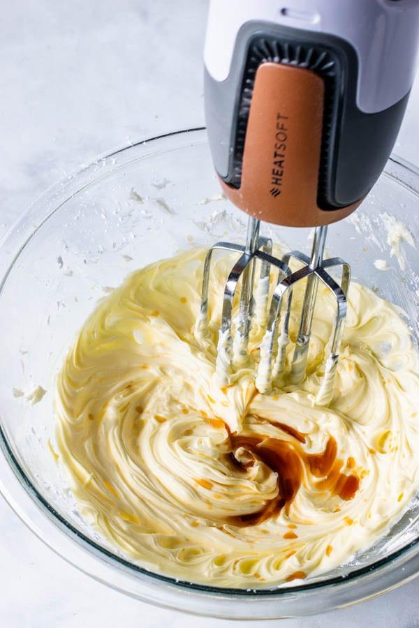 adding vanilla extract to the tart dough
