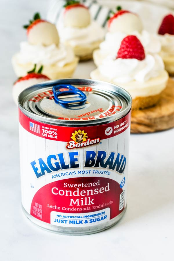 No-Bake White Chocolate Cheesecake eagle brand milk