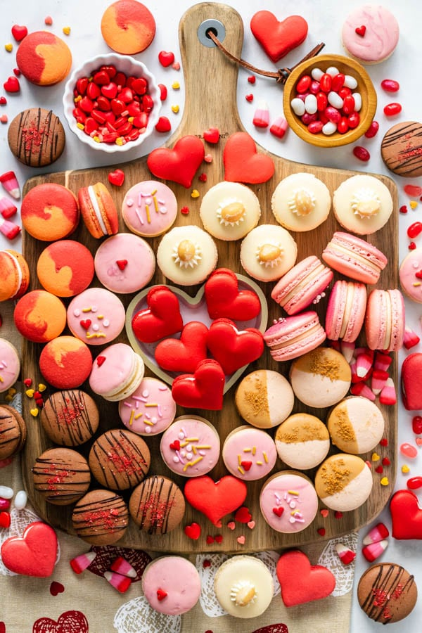 Valentine's Day Macarons board