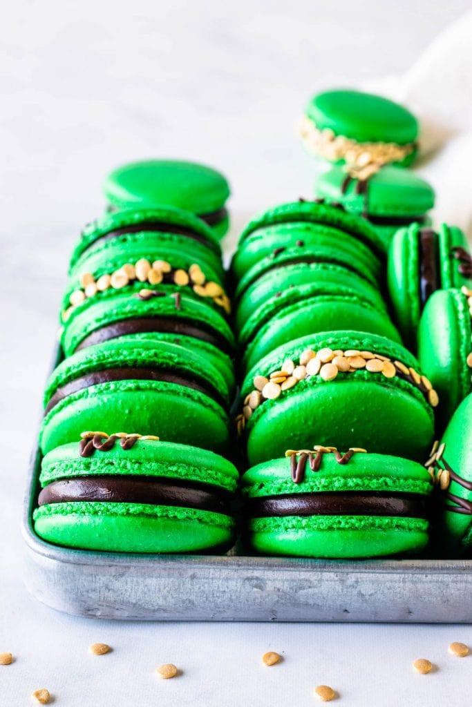 St. Patrick's Macarons